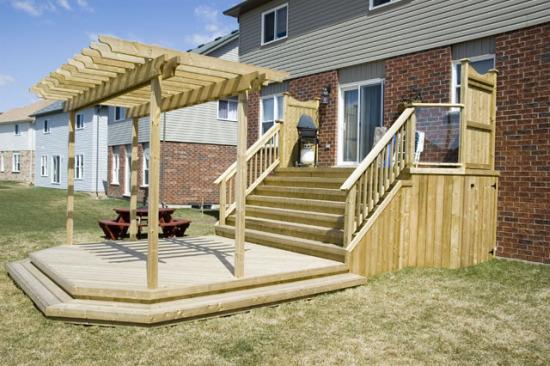 Diy ground level deck plans wooden pdf cabin office design for Wood deck plans pdf